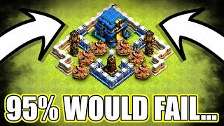 95% OF PEOPLE WOULD FAIL THIS TH12 CLASH OF CLANS CHALLENGE!