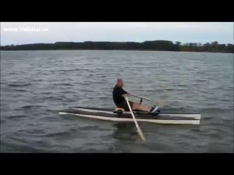 Rodd- och fiskekatamaran / Rowing catamaran
