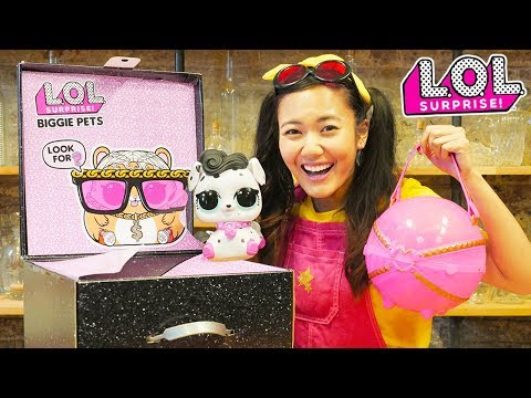 HUGE LOL Biggie Pets Surprise MC HAMMY -  Spy Challenge with Ellie Sparkles in Real Life