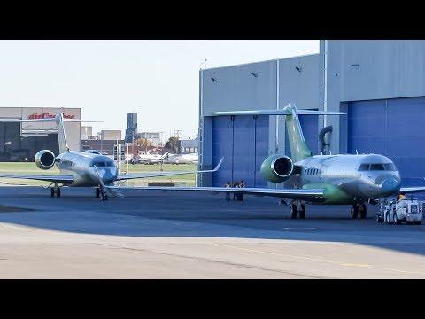 TWO (2) Brand New Bombardier Global 6000 + 7500 landing in Montreal (YUL/CYUL)