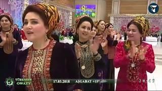 Президент Туркменистана  Гурбангулы Мяликгулыевич Бердымухамедов спел песню Каракум