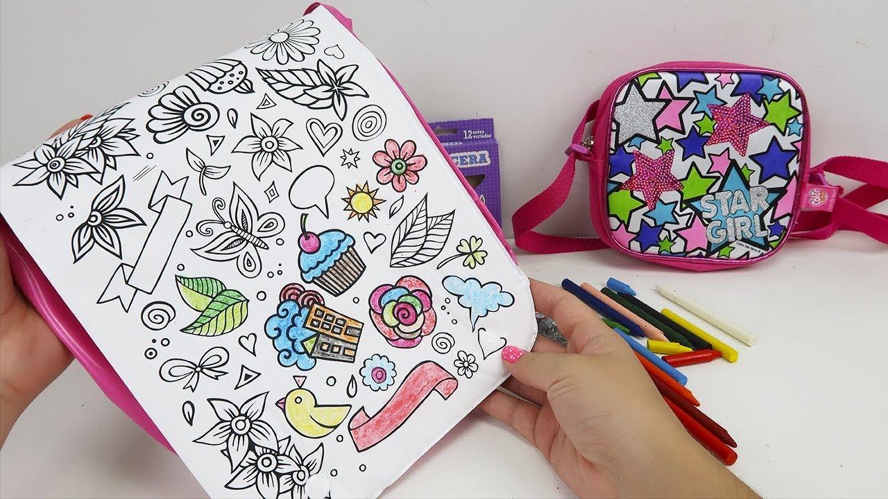 Bolsa Para Colorir Com Giz De Cera E Cola Glitter Lavavel Youtube