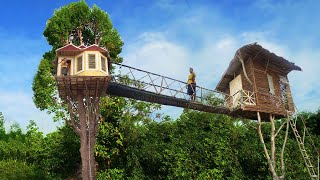 Build The Most Beautiful Tree house Villa Bath Pool and Kitchen House