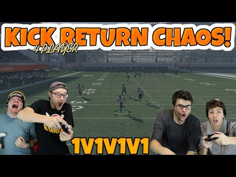 This 4 Player Mini Game Is Absolute Madness!! MADDEN 18 KICK RETURN CHAOS