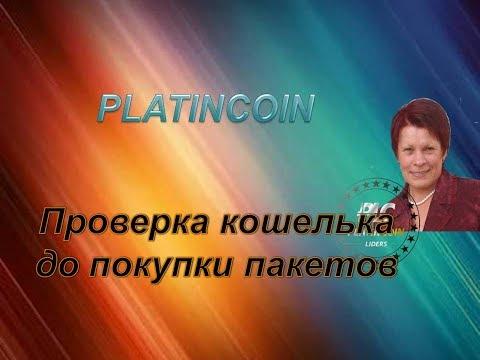 Как проверить кошельки перед покупкой пакетов PLATINKOIN