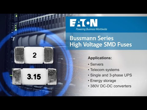 High voltage surface mount fuses from Eaton - 1145HV & 1350HV families