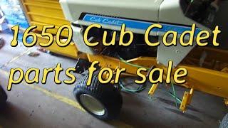 cub cadet 1650 parts for sale