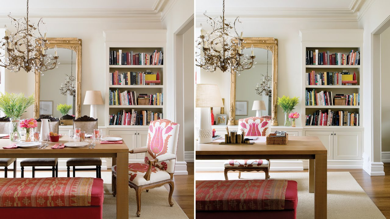 & Interior Design \u2013 A Double-Duty Dining Room And Office - YouTube