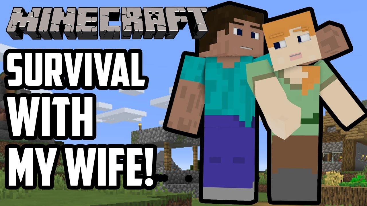 Minecraft Survival With My Wife! - We Stole EVERYTHING From These  Villagers! | Let's Play Ep 1