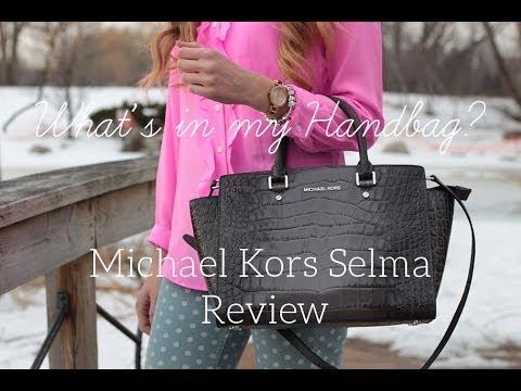 dcc8f15d84bc What s in my Handbag  Michael Kors Selma Satchel Review - YouTube