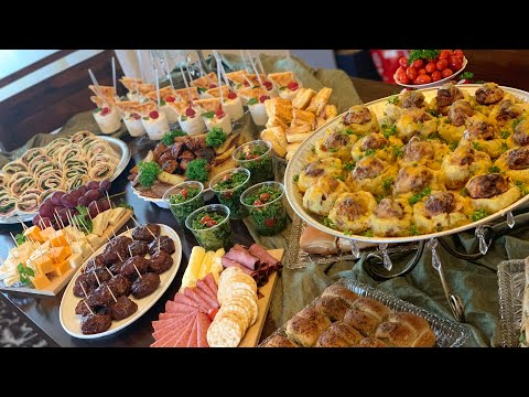 Party Appetizer Buffet Table - Galore Of Flavors