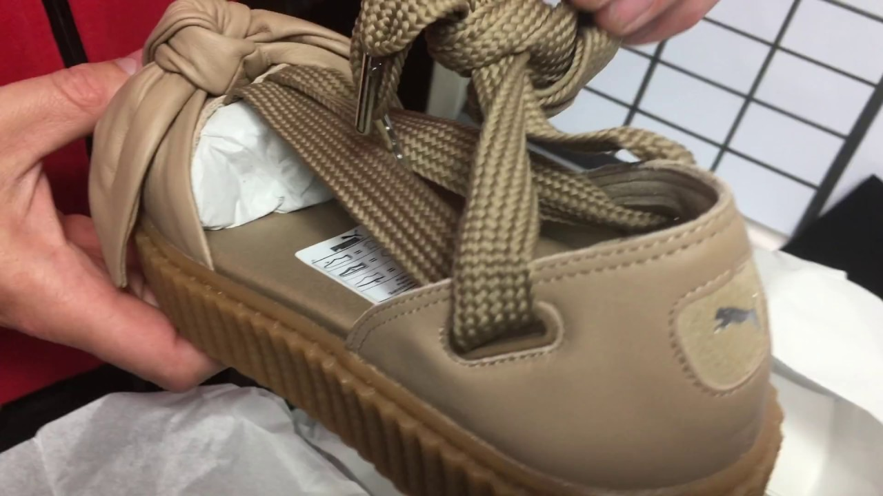 separation shoes 6a649 1ce1b Puma Bow Creeper Fenty Sandal Unboxing
