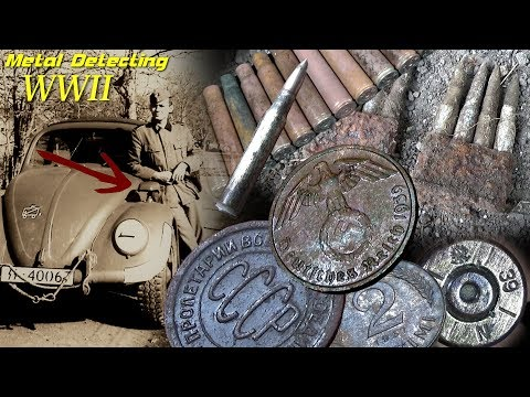 Metal Detecting WW2 Battlefield - You don't need a Detector here! Coins from the Eastern Front!