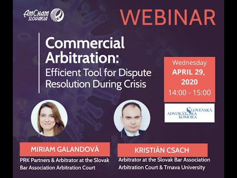 AmCham Webinar: Commercial Arbitration:Efficient Tool for Dispute Resolution During Crisis