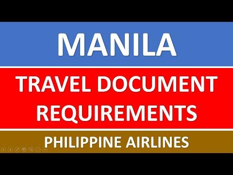MANILA Travel Requirements - PAL 2021 | Philippine Airlines MANILA Travel Document Requirements 2021