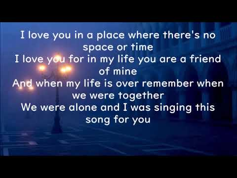 This song is for you lyrics