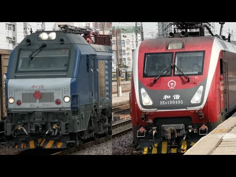 China Railway | Train Entrance | HXD2B VS HXD1D Electronic Locomotive