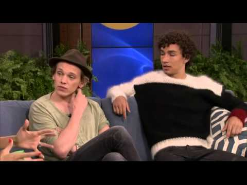 Robert Sheehan and Jamie Campbell Bower on Breakfast Television