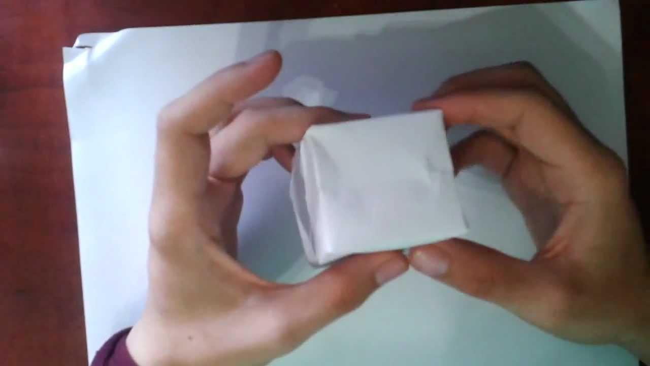 Shinyorigami como hacer un cubo de papel youtube - Como hacer jarrones de papel ...