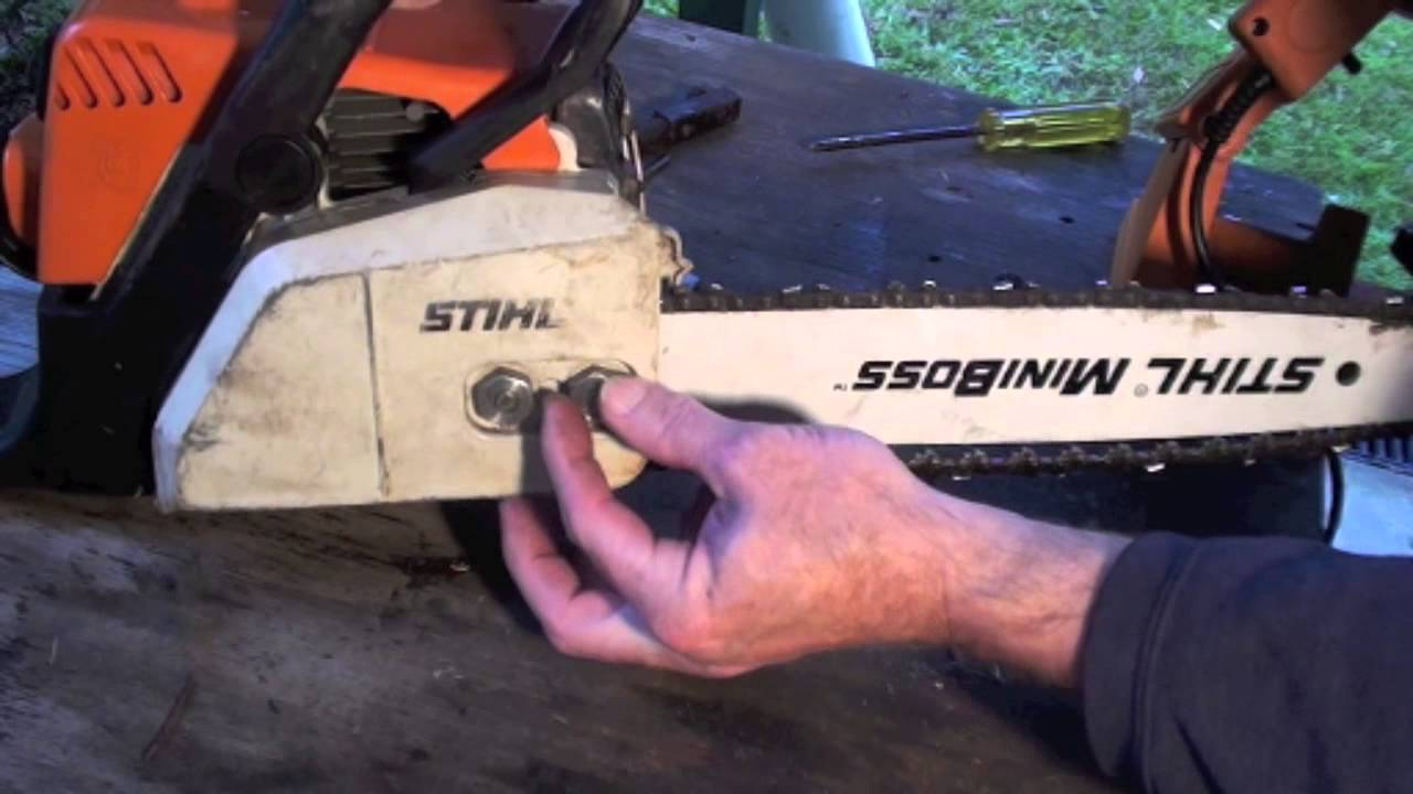 How to put on a chain saw chain the right way youtube how to put on a chain saw chain the right way greentooth Choice Image