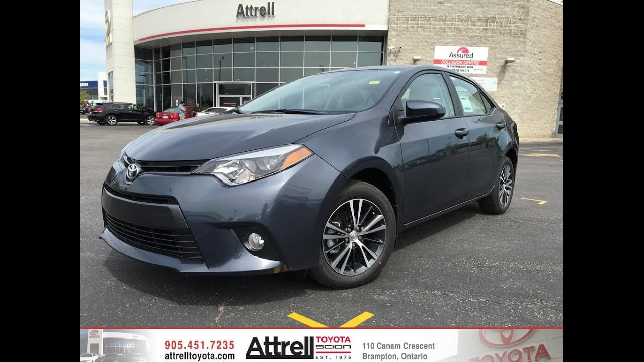 2016 toyota corolla le upgrade package review brampton on attrell toyota youtube. Black Bedroom Furniture Sets. Home Design Ideas