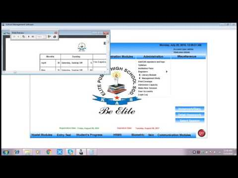 How To Make Academic Calendar In School Management Software