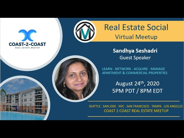 Coast-2-Coast Real Estate Social with Sandhya Seshadri