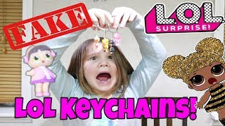 Fake LOL Surprise Keychains Unboxing Fake LOL Dolls Fake Vs Real