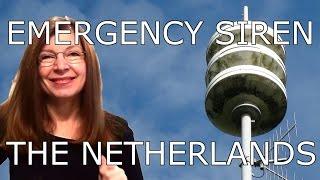 SIREN SIREN SIREN - EMERGENCY ★ AIR RAID ★ CIVIL DEFENCE - The Netherlands WASSENAAR Sprig Barton