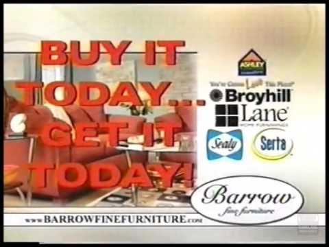 Barrow Fine Furniture Television Commercial 2009 Mobile Flomaton Alabama Pensacola Florida
