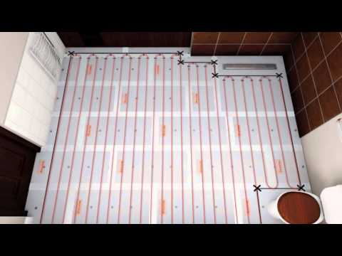 underfloor heating loose wire installation video by warmup