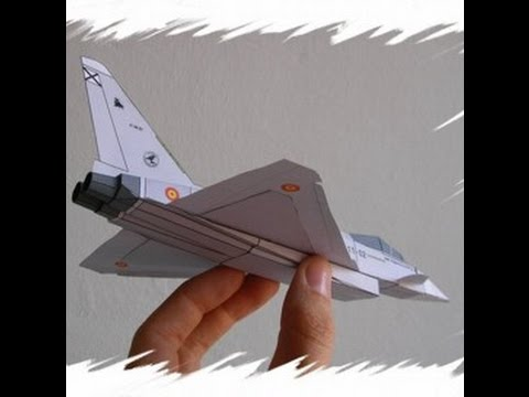 Papercraft Eurofighter Paper Airplane 3D model