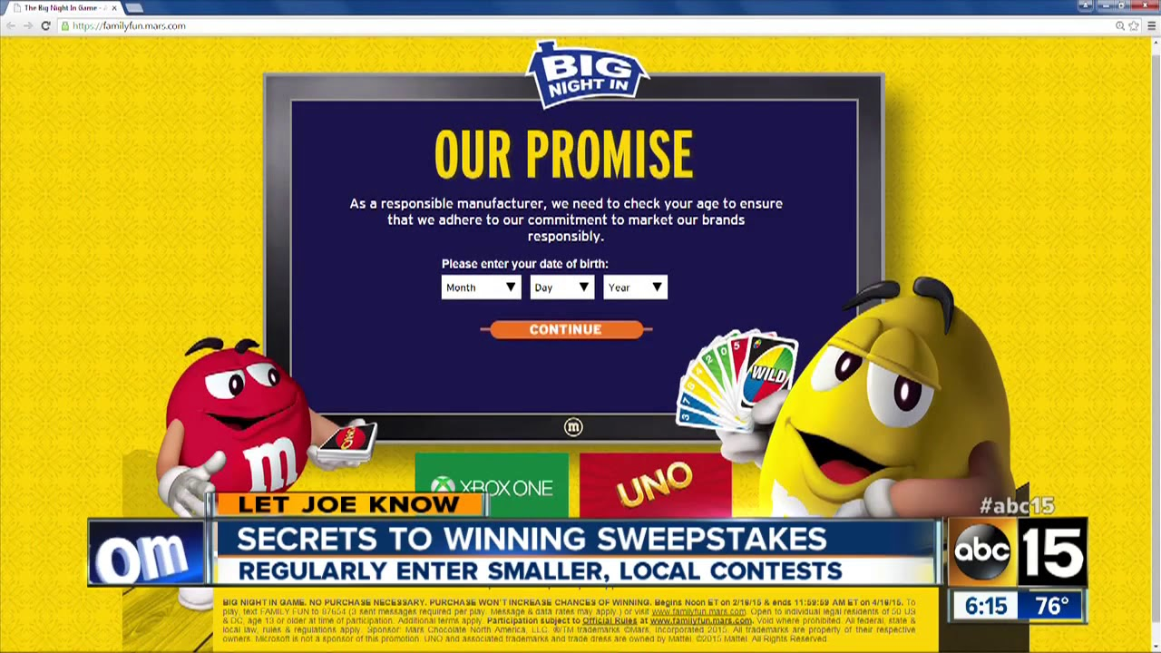 SECRETS TO WINNING SWEEPSTAKES AMERICAN DREAM