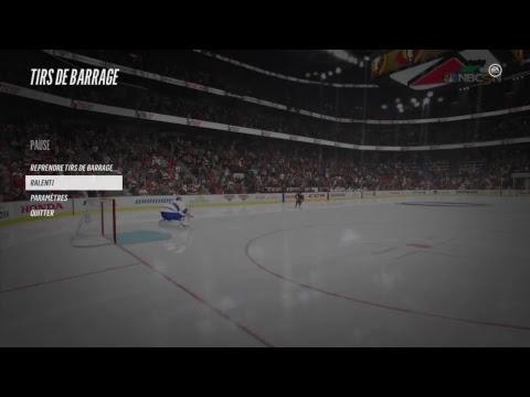 Shootout Ottawa Senators shot to center of the ice.