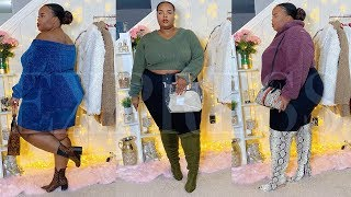 First Time Trying EXPRESS Fall Mini Lookbook Style Inspiration Plus Size Try On