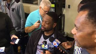 Dwyane Wade talks about first practice since rejoining the Miami Heat