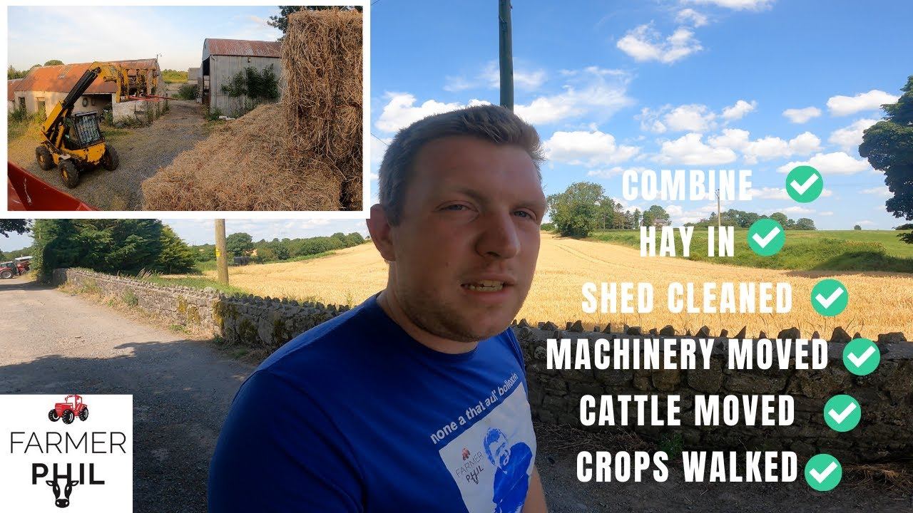 IRISH FARMER'S BUSY DAY IN JULY — TRYING NOT TO MELT IN THE HEAT!!!