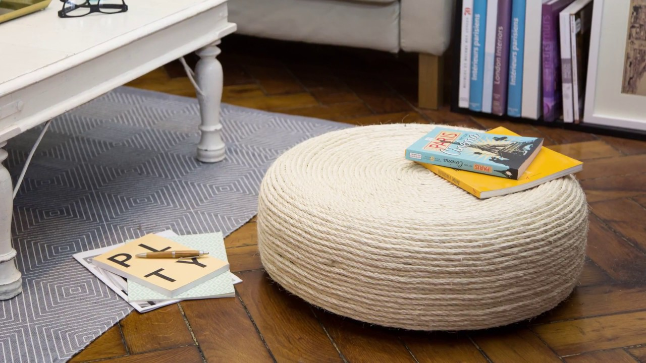 Exceptionnel Le pouf pneu DIY - YouTube NZ34