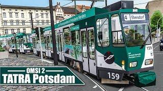OMSI 2: Potsdamer TATRA-Straßenbahn #1: Auf der 4 von Eberlinsee - Schönau | Straßenbahn Simulator