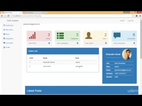 Intro to the CMS System with Admin Panel  Based on PHP and Bootstrap Part 102