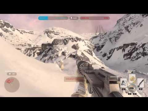Jugando star wars Battlefront PS4( batalla en hoth)