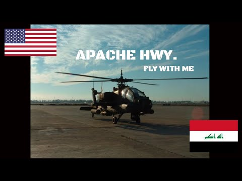 Apache Helicopter Flight