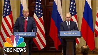 At News Conference, Vladimir Putin Denies Russian Involvement In 2016 U.S. Election | NBC News thumbnail