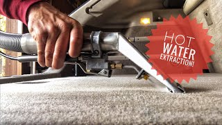 How to clean car carpets and cloth seats with hot water extraction - BEST deep clean method