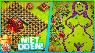 6 SLECHSTE BASE LAYOUTS OP CLASH OF CLANS!!!