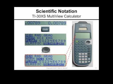 Scientific Notation And The Ti 30xs Multiview Calculator Youtube