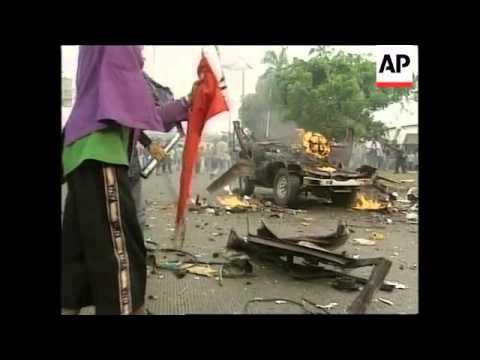 INDONESIA: JAKARTA: CAR BOMB