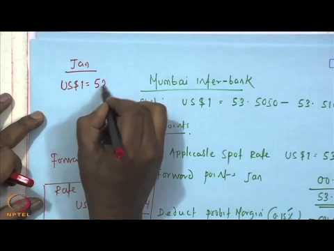 Mod 01 Lec 10 Foreign Exchange Forward Contracts Youtube