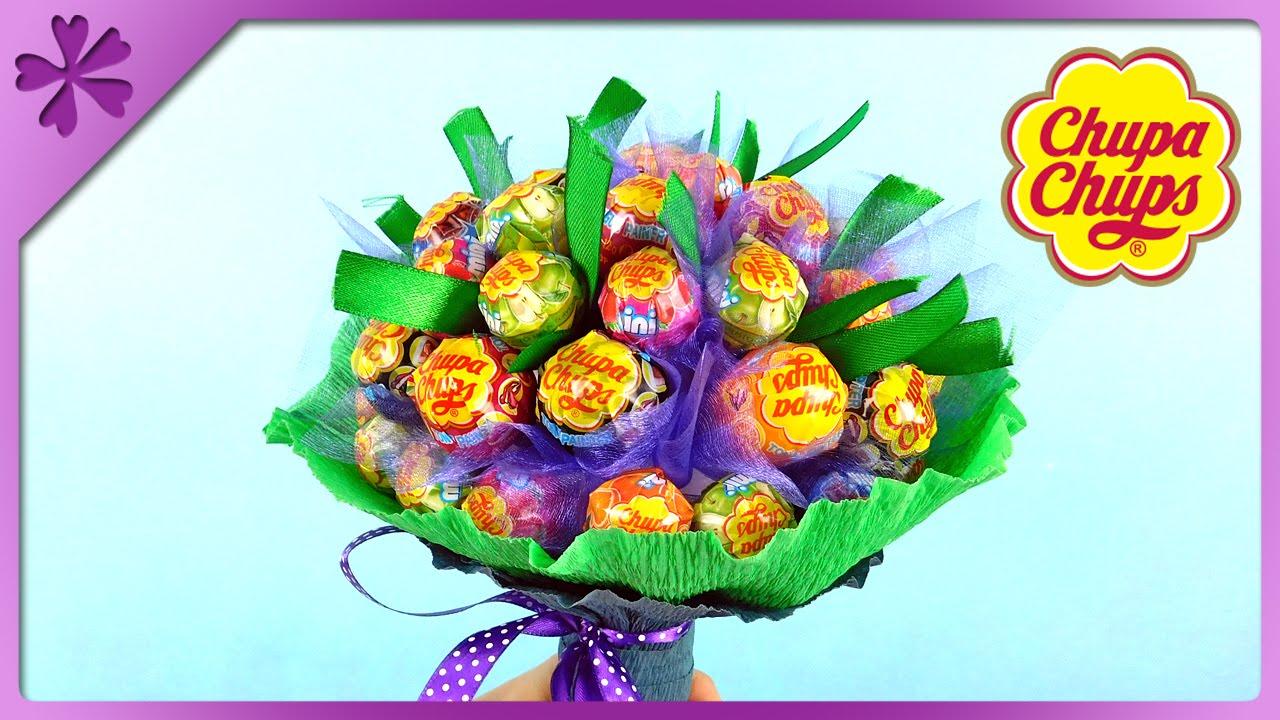 DIY Chupa Chups lollipop bouquet for Children\'s Day (ENG Subtitles ...