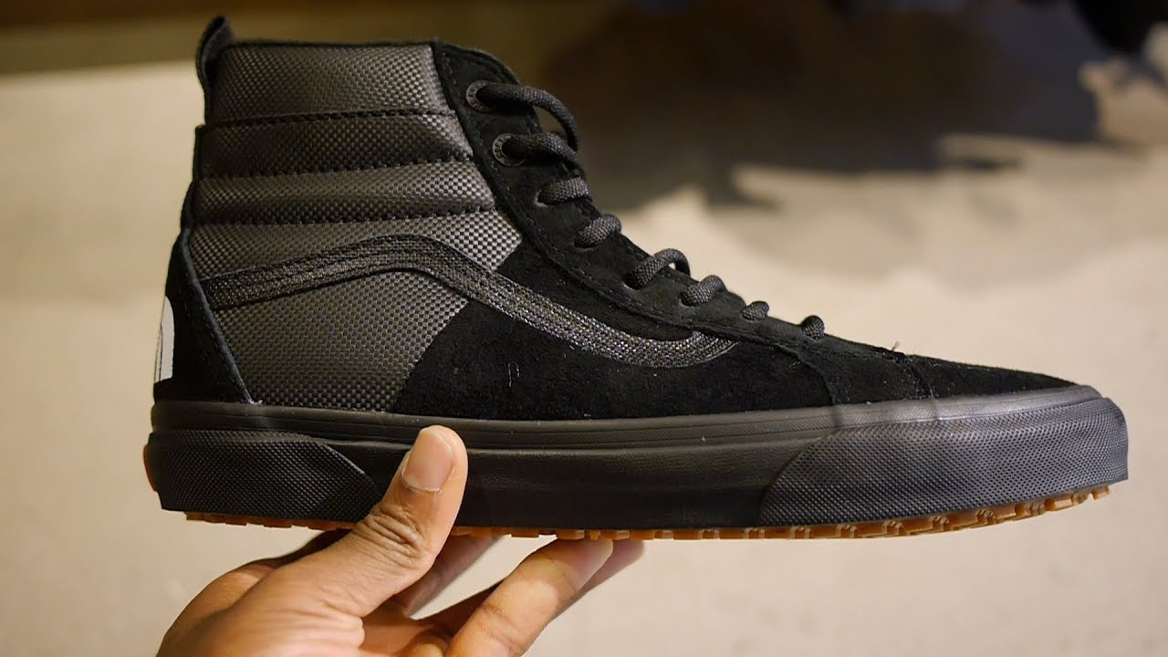 06c3438123 Vans x The North Face SK8 Hi 46 MTE Quick Look   On Feet (Black ...